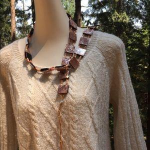 Accessories - Iridescent coral pink wrap belt